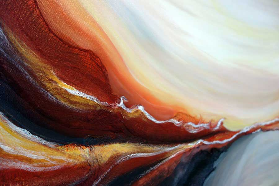 Desert Essence Abstract Painting Original Abstract Red