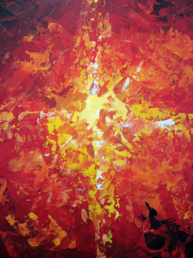 Fire Abstract Painting Element of Fire Abstract Texture Painting by