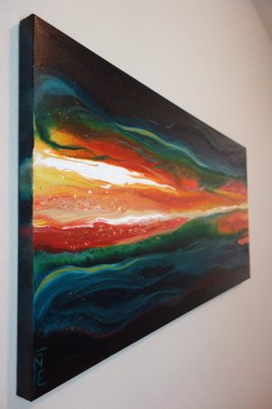 Ignited-Liz-W-Abstract-Lava-Painting-side