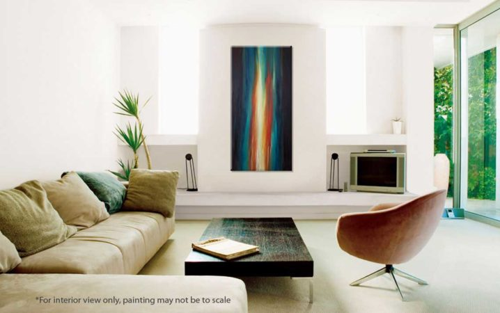 Illuminous-Flame-Abstract-Painting-interior-view