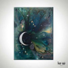 Moonstruck Spacescape Painting