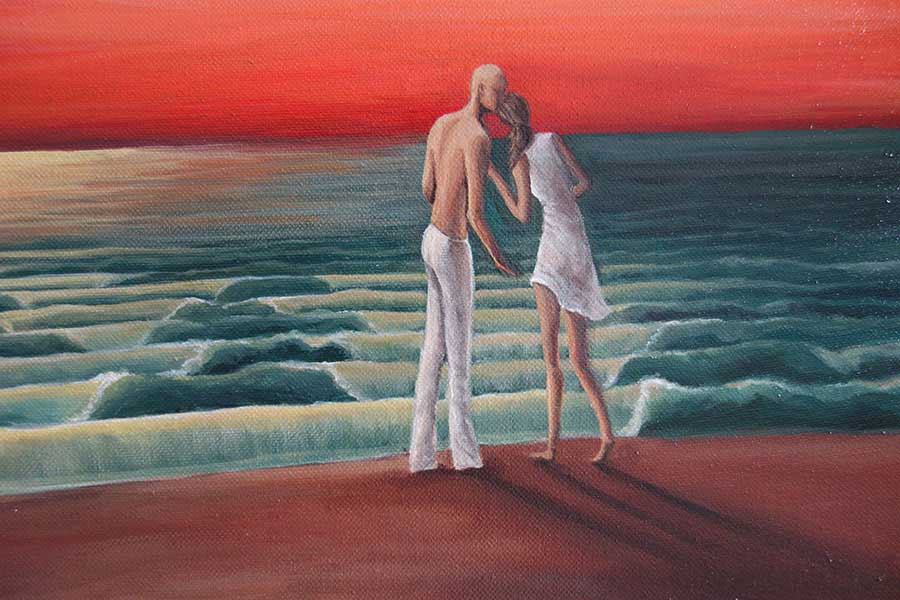 Farewell-Kiss-Landscape-Painting-close-up-2