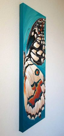 Landed-Butterfly-Wing-Painting-side-view
