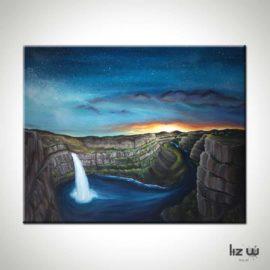 Palouse Falls Landscape Painting