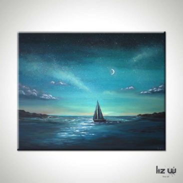Crescent-Sail-Moon-Sailboat-Painting
