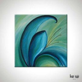Aqua Petals Floral Painting