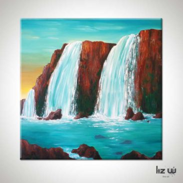 Sedona-Waterfall-Painting-Hidden-Falls-Liz-W-Waterfall-Painting