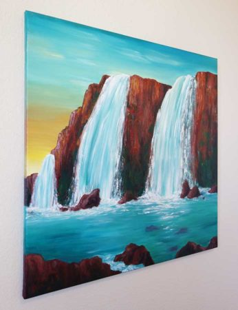 Sedona-Waterfall-Painting-Hidden-Falls-Liz-W-Waterfall-Painting-side