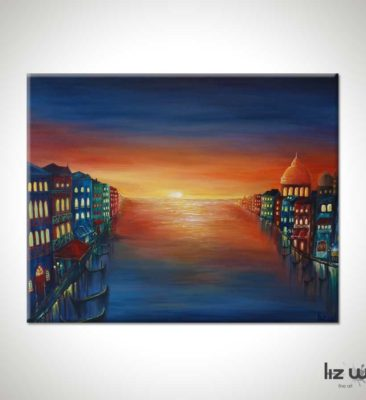 Venice Sunset Cityscape Painting
