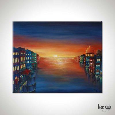 Venice-Sunset-Liz-W-Cityscape-Painting