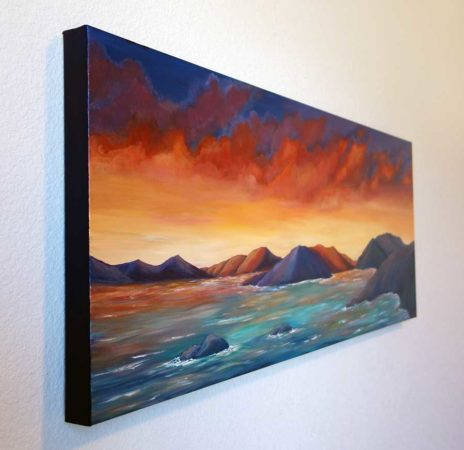 Firey-Sunset-in-the-Virgin-Islands-Painting-side