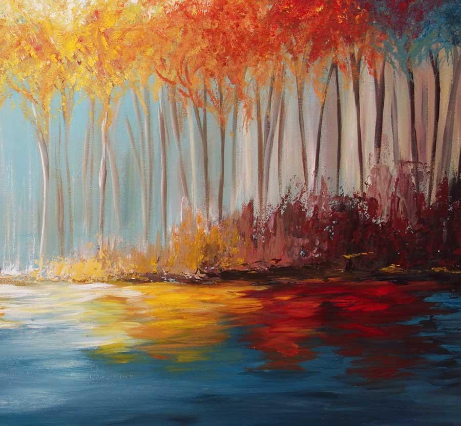 Autumn Tree Painting Original Return To Autumn Painting