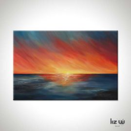 The-Edge-of-Sunset-Liz-W-Seascape-Painting