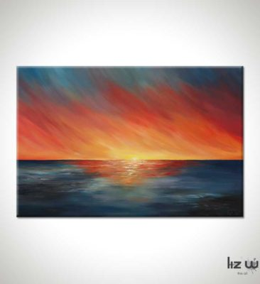 The Edge of Sunset Seascape Painting