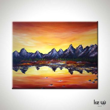 Sunset-Over-Grand-Tetons-Painting