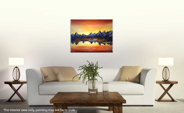 Sunset-Over-Grand-Tetons-Painting-interior-view