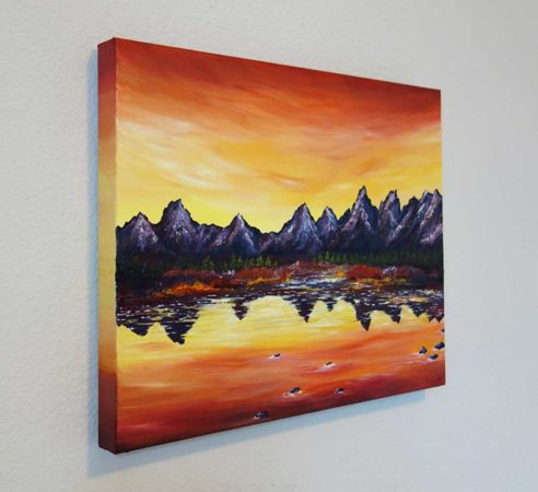 Sunset-Over-Grand-Tetons-Painting-side