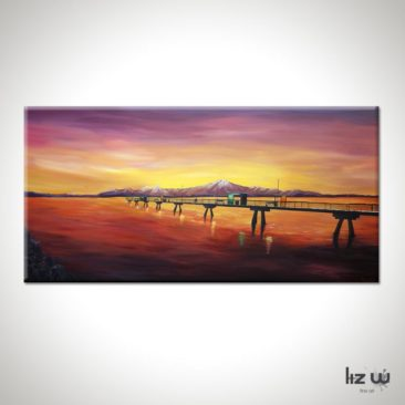 Edmonds Sea Painting-an-engagement-at-the-edmonds-pier-liz-w-seascape-painting