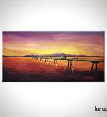 An Engagement at the Edmonds Pier Seascape Painting