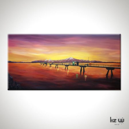 Edmonds Sea Painting-an-engagement-at-the-edmonds-pier-liz-w-seascape-painting