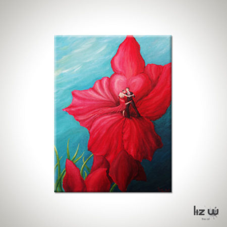 Tango-Floral-Painting-Argentine-Tango-Liz-W-Floral-Painting