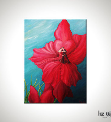 Argentine Tango Floral Painting