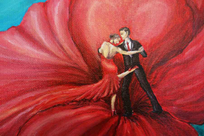 Tango-Floral-Painting-Argentine-Tango-Liz-W-Floral-Painting-close-up