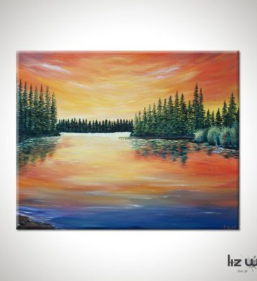 Lake Limerick Landscape Painting