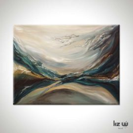 Through Water to Earth Abstract Painting
