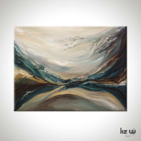 Through-Water-to-Earth-Abstract-Painting-Liz-W
