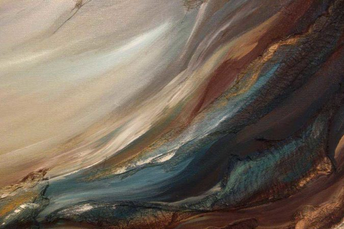 Through-Water-to-Earth-Abstract-Painting-close-up-2-Liz-W