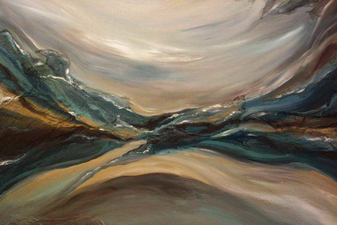 Through-Water-to-Earth-Abstract-Painting-close-up-4-Liz-W