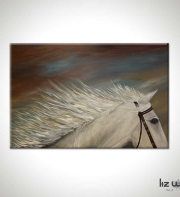 White Horse Figure Painting