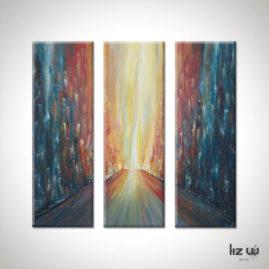 Metropolis-Light-Liz-W-Cityscape-Painting
