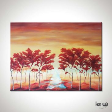 Landscape-Tree-Painting-Whispering-Path-Through-the-Trees-Liz-W-Landscape-Painting