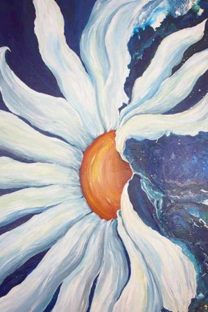 Floral-Daisy-Painting-Liz-W-detail
