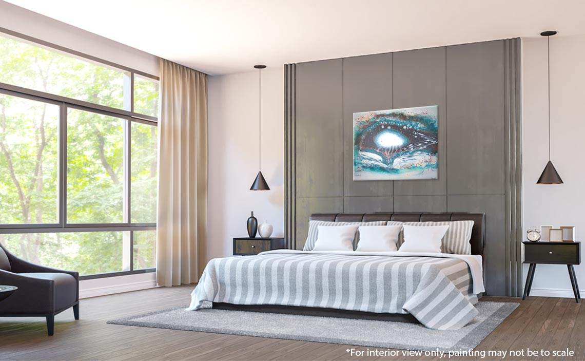Pearlescent Abstract Painting, Original Jellyfish Abstract Art   Liz W Fine  Art