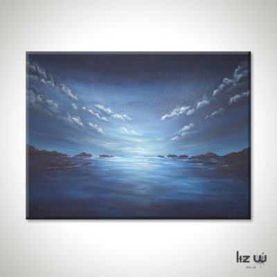 Evening-Ocean-Painting-Seascape-Liz-W