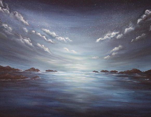 Evening-Ocean-Painting-Seascape-Liz-W