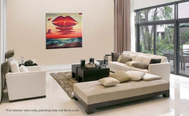 Farewell-Kiss-Landscape-Painting-interior-view