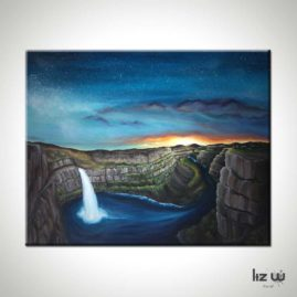 Palouse-Falls-Waterfall-Painting