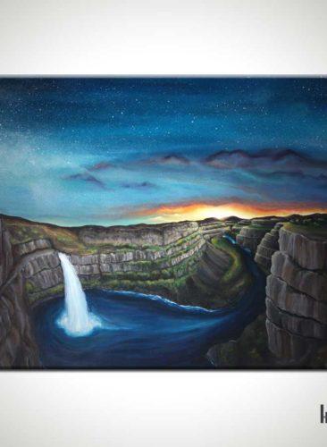 Palouse-Falls-Waterfall-Painting