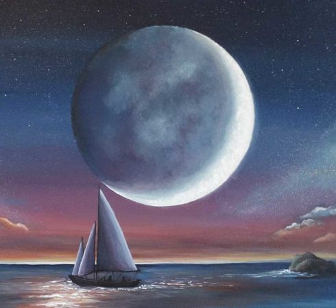Sail-Under-Moonlight-Sailboat-Painting-Close-up-2