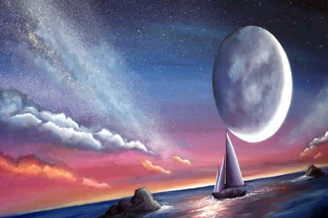 Sail-Under-Moonlight-Sailboat-Painting-Close-up