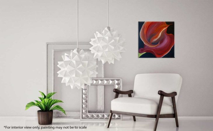 Red-CallaLily-Floral-Painting-interior-view