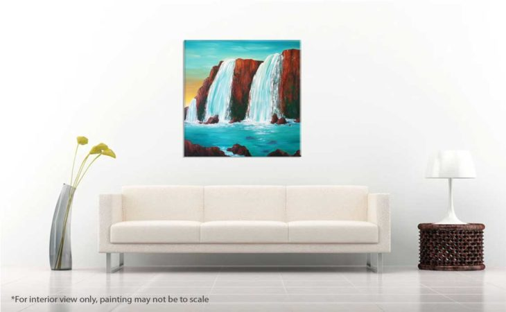 Sedona-Waterfall-Painting-Hidden-Falls-Liz-W-Waterfall-Painting-interior-view-2