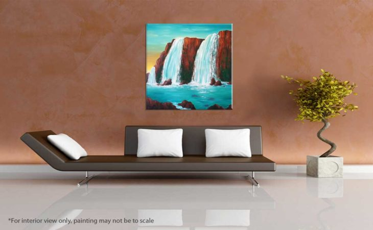 Sedona-Waterfall-Painting-Hidden-Falls-Liz-W-Waterfall-Painting-interior-view