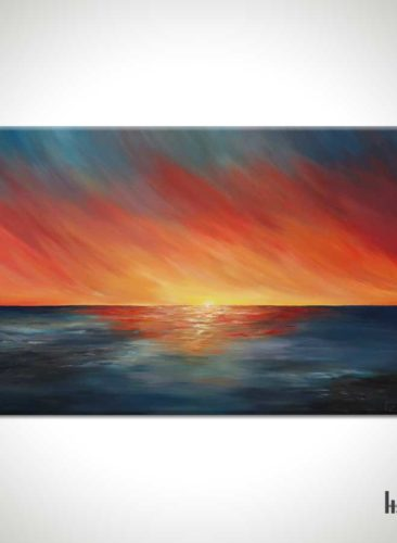 The-Edge-of-Sunset-Seascape-Painting