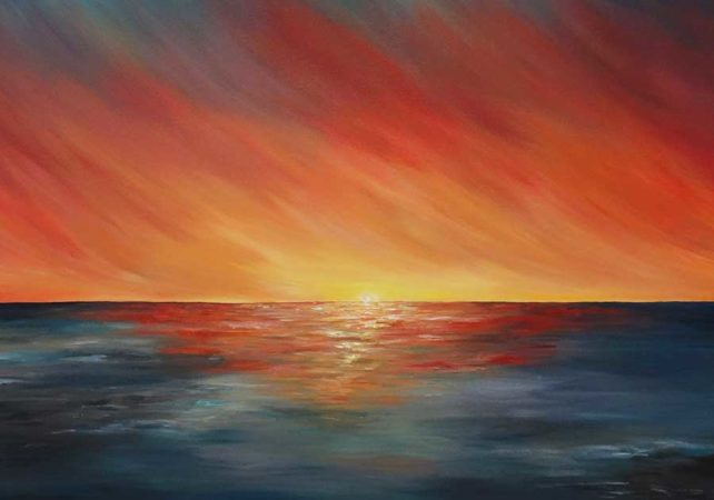 The-Edge-of-Sunset-Liz-W-Seascape-Painting-close-up