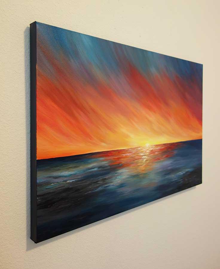 The Edge Of Sunset Seascape Painting Liz W Fine Art